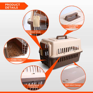 Petwant Outdoor Pet Cat Dog Travel Kennels Carrier Cage Jaulas Para Perros