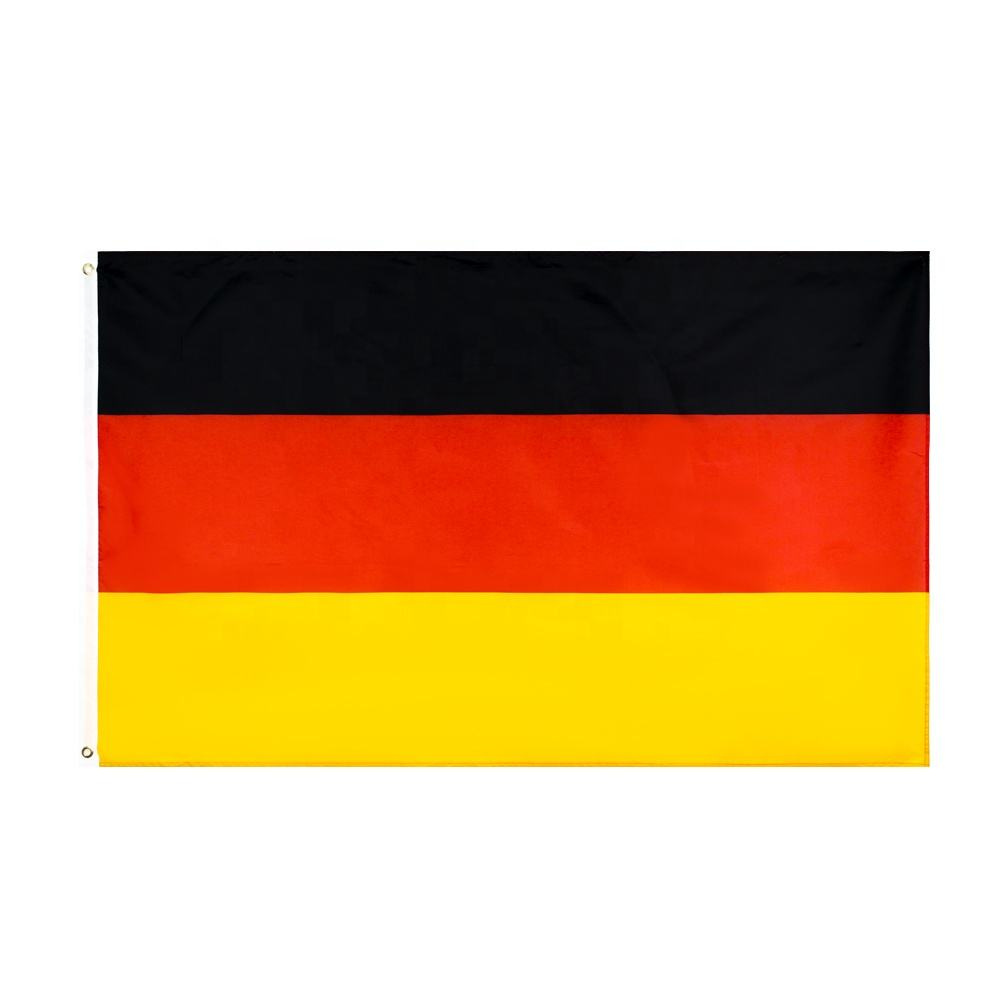 Professional Certified Factory Digital Printing Rectangular Custom Made National German Flag