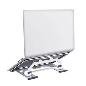 2020 portable adjustable flexible foldable desktop aluminum metal universal 17 inch laptop holder stand for macbook