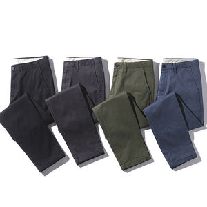 new product cotton fabric mens casual skinny chino pants