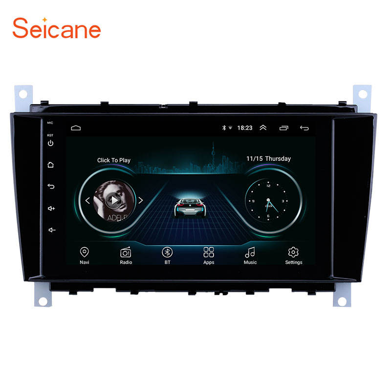 "Radio Navigasi GPS Android 9.1 8 "", DVR Mercedes Benz C55 W203 W209 W219 dengan Bluetooth WiFi Mendukung Carplay 2004-2011"