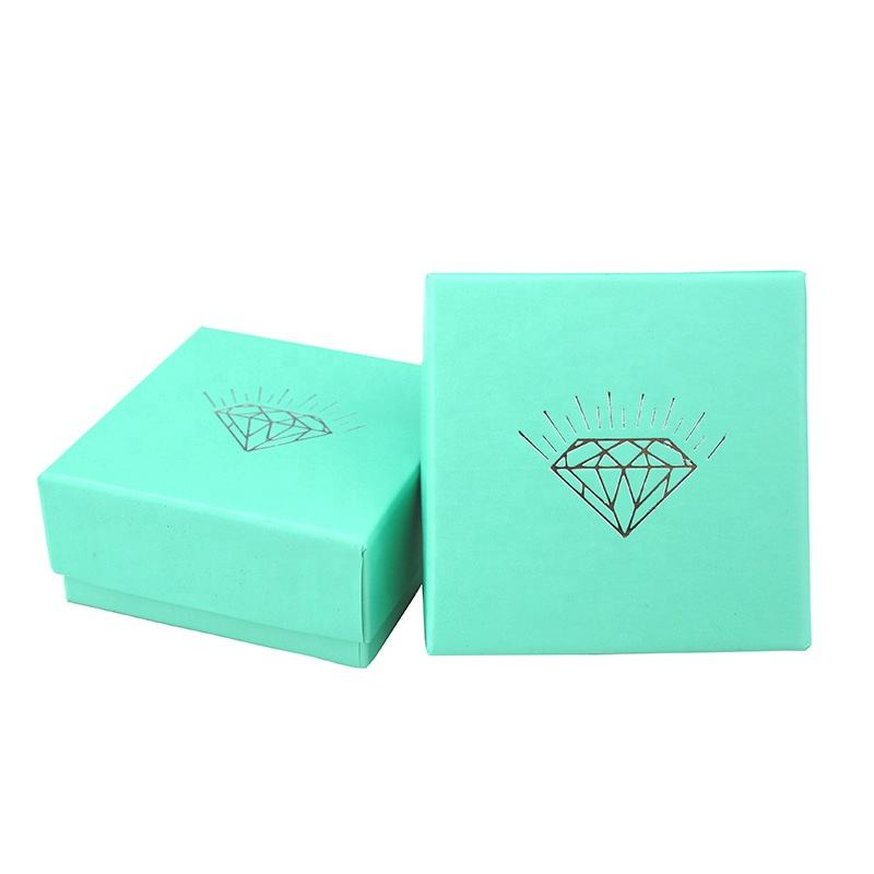 Wholesale small luxury custom logo design cardboard paper gift box packaging for ear rings jewelry packing box