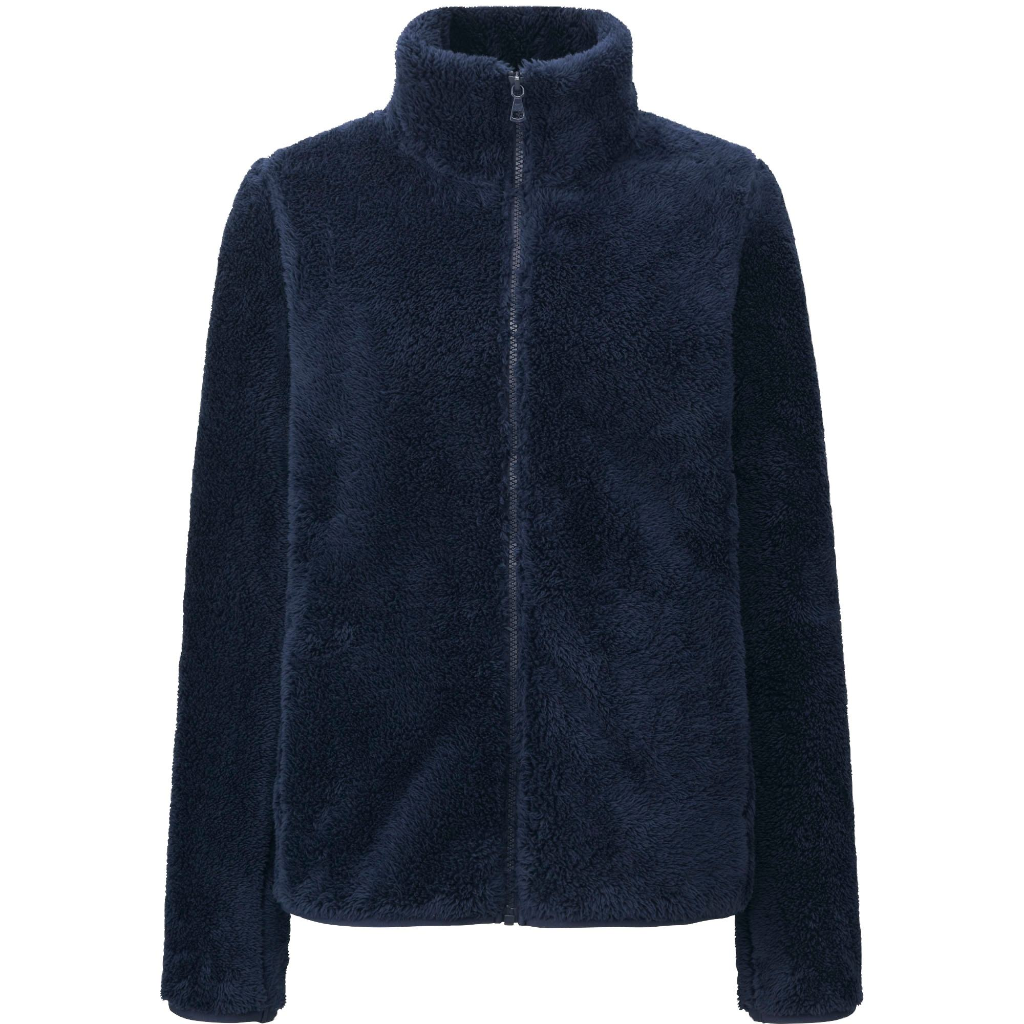 Navy Blue Turtleneck Winter Season Fleece Jacket For Men's From Bangladesh