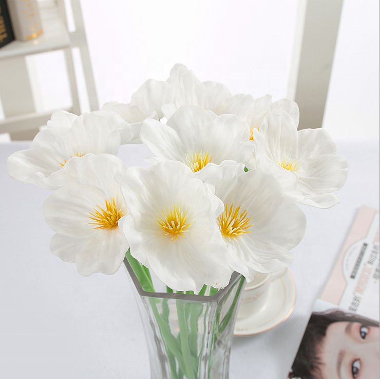Factory Price Artificial Flower Corn Poppy Flower For arrangement Decoration For Vase