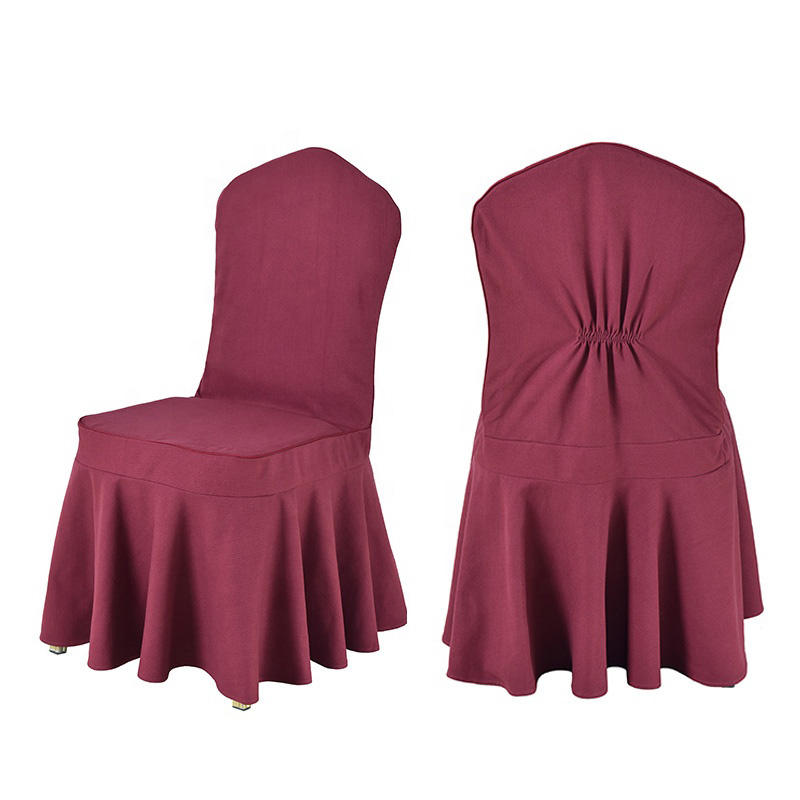 wine red spandex wedding dinning chair cover
