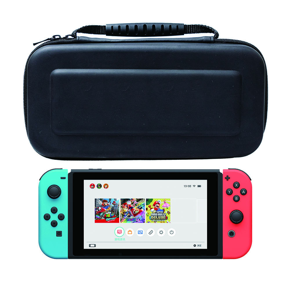 Case Compatible with Nintendo Switch Carry Case 9 in 1 Pouch Switch Cover Case HD Switch Screen Protector Thumb Grips Caps