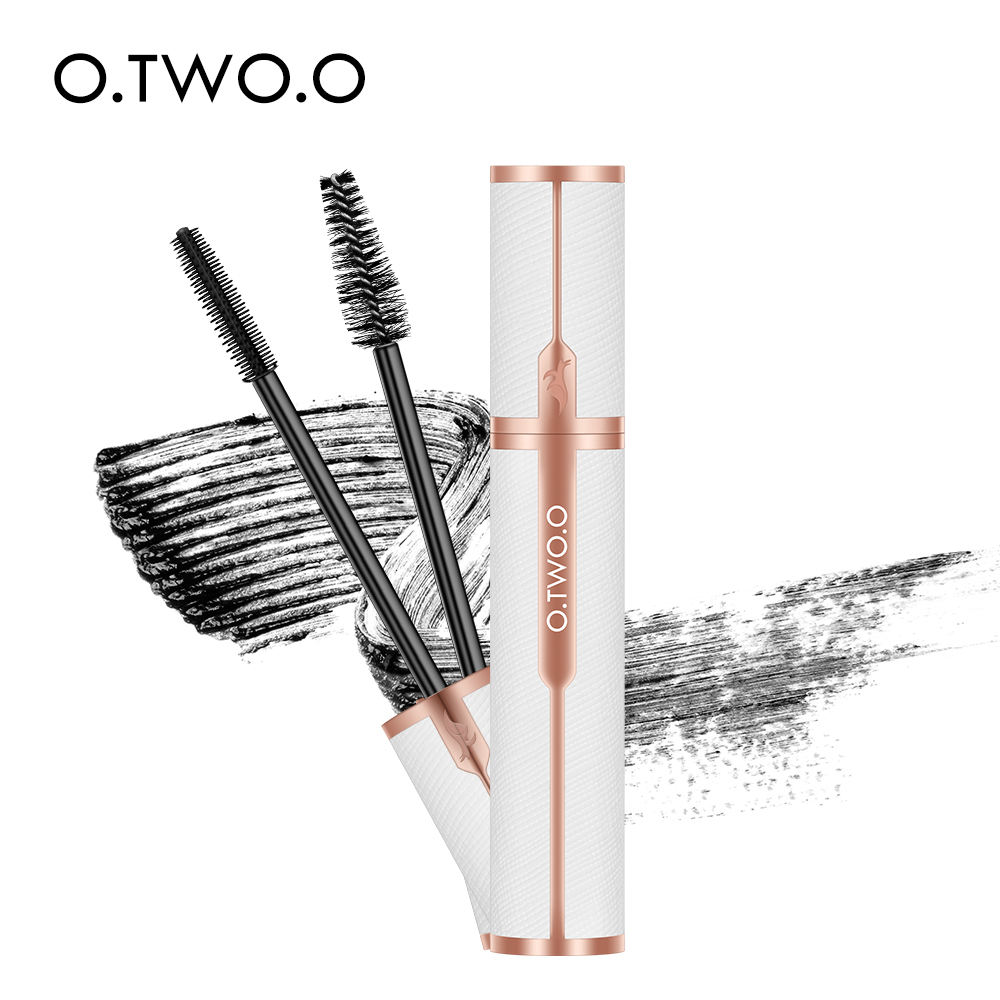 O.TWO.O 2019 Autumn New Mascara Fashional Leather Tube With Hair/Silicon Brush Long Thick Eyelash Mascara