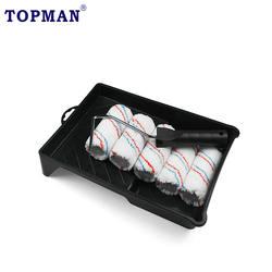 Topman 7pcs  microfiber jumbo mini rollr refill mini rollr frame and paint tray set