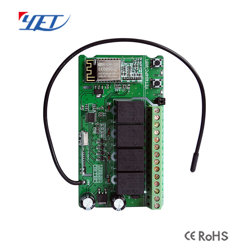 Factory Wifi wireless RF433mhz 4 Channel DC/AC12-24V Controller With Remote Control & Phone App