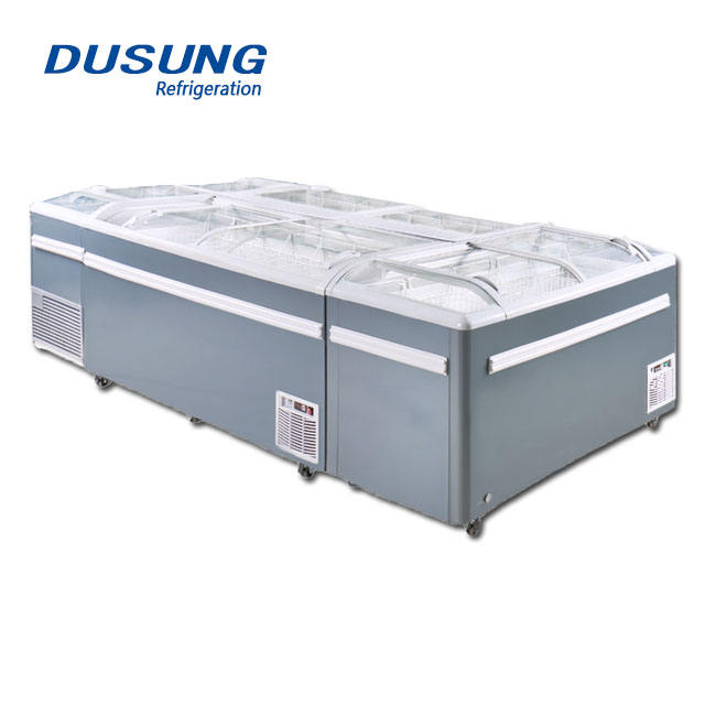 Supermarket Commercial Refrigeration Mini Island Freezer