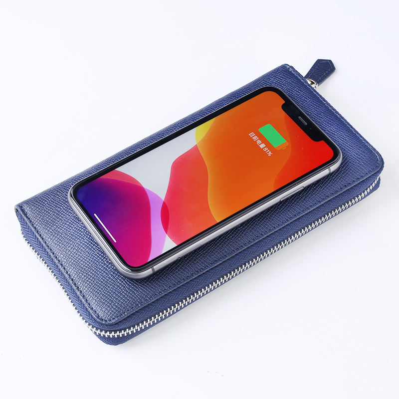 New Design Power Bank Fast Charger Leather Wallet Wireless Charging Powerbank 8000mah