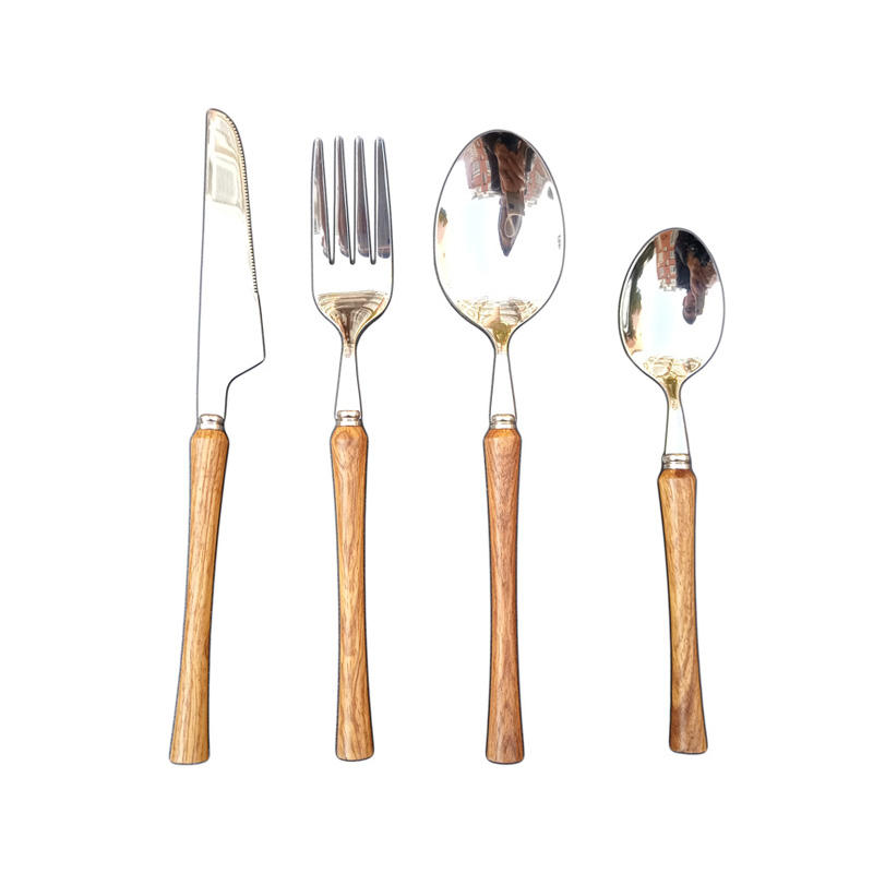 2020 Factory Direct Supply 18/10 Stainless Steel Cutlery with Rosewood handle