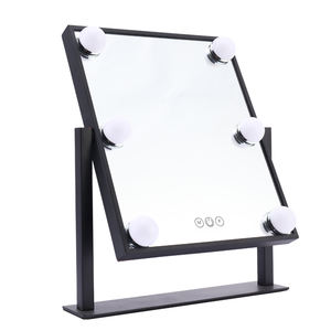 Hot selling beauty hollywood makeup mirror with led lighted bulbs for salon