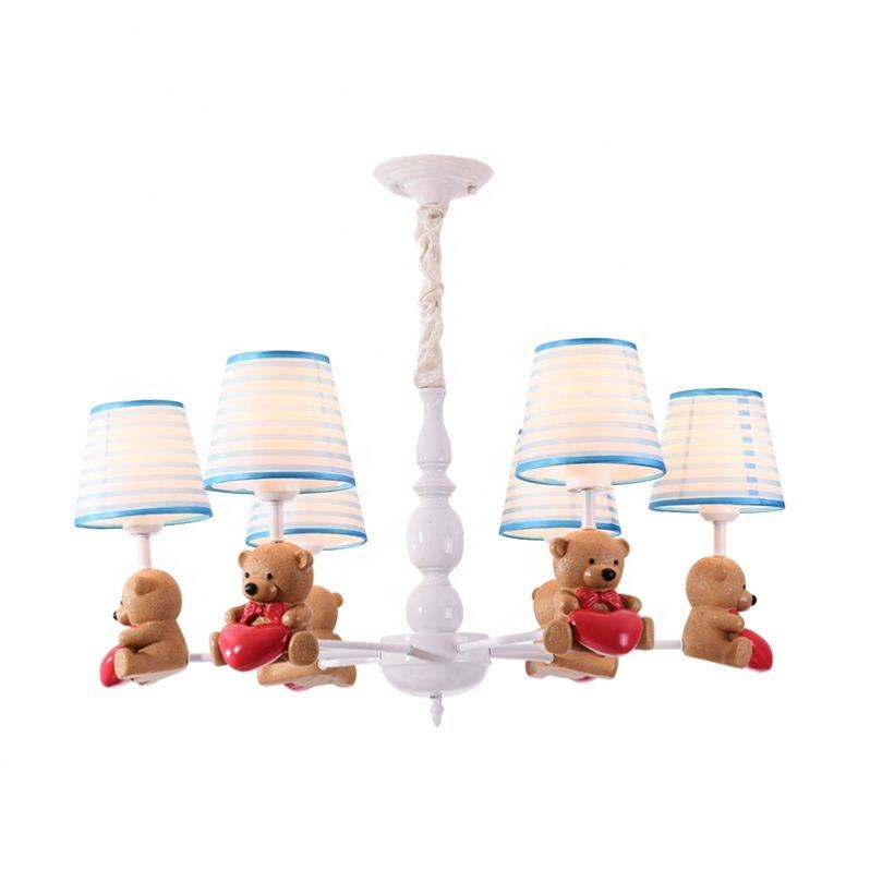 American Rural Style LED Cartoon Shape Pendant Light For Kid Room