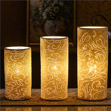 Decorations for home led night light electric porcelain table lamp