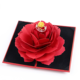 New style wholesale fancy foldable rose flower jewelry ring box for gifts wedding