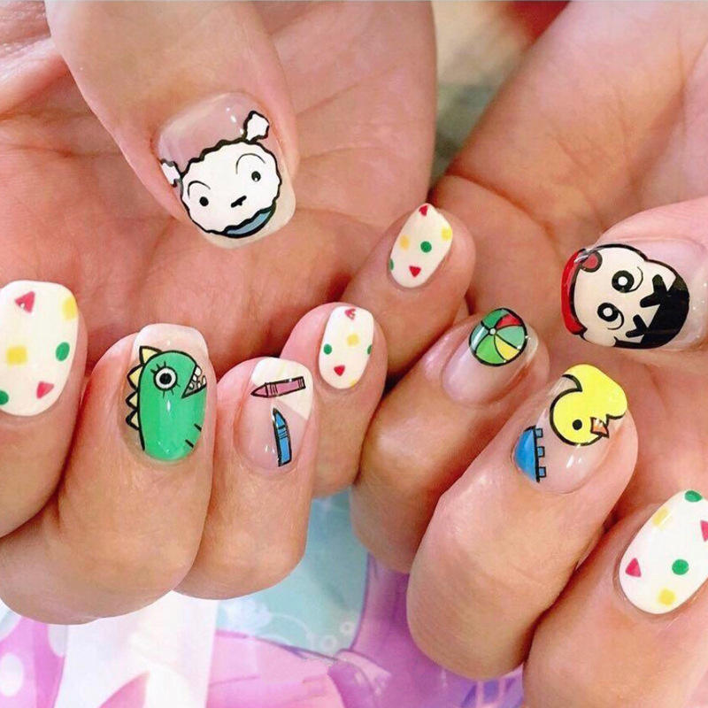 YW-260 new arrival hot sale Cartoon character nail sticker non-toxic 3d sticker for children