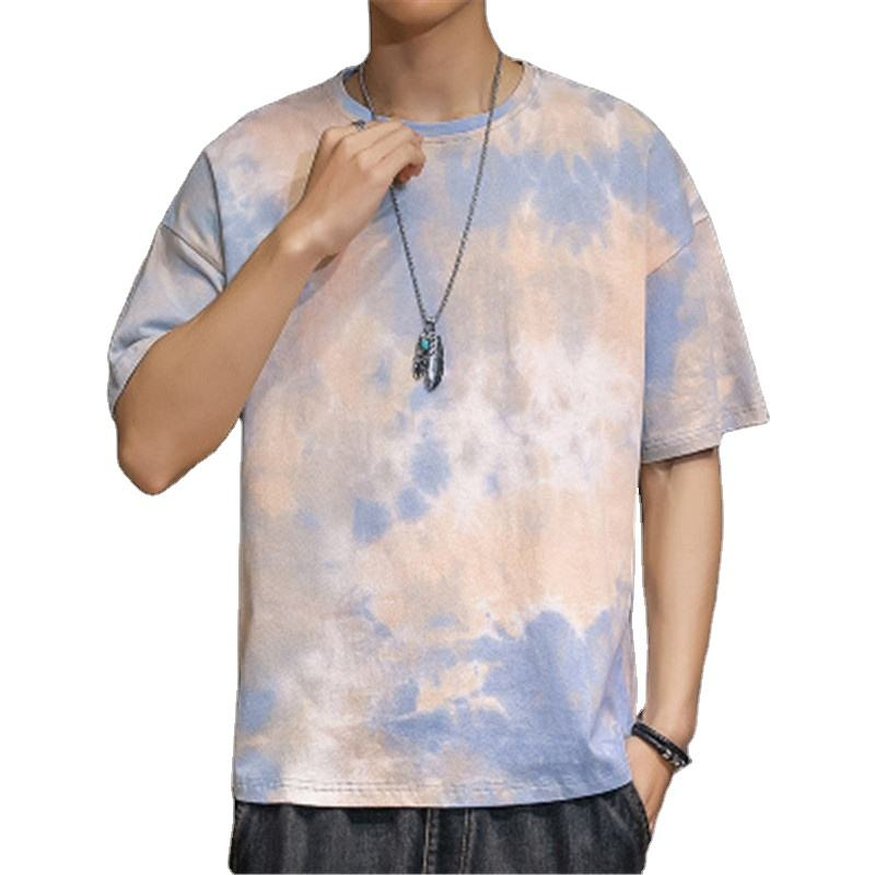 Wholesale 2020 Summer Teenager Tie-dye Tops Male's Fashion Clothing Men's T-Shirt