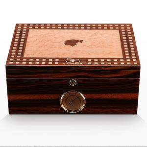 Professional manufacture spanish cedar piano lacquer wood cigar humidor
