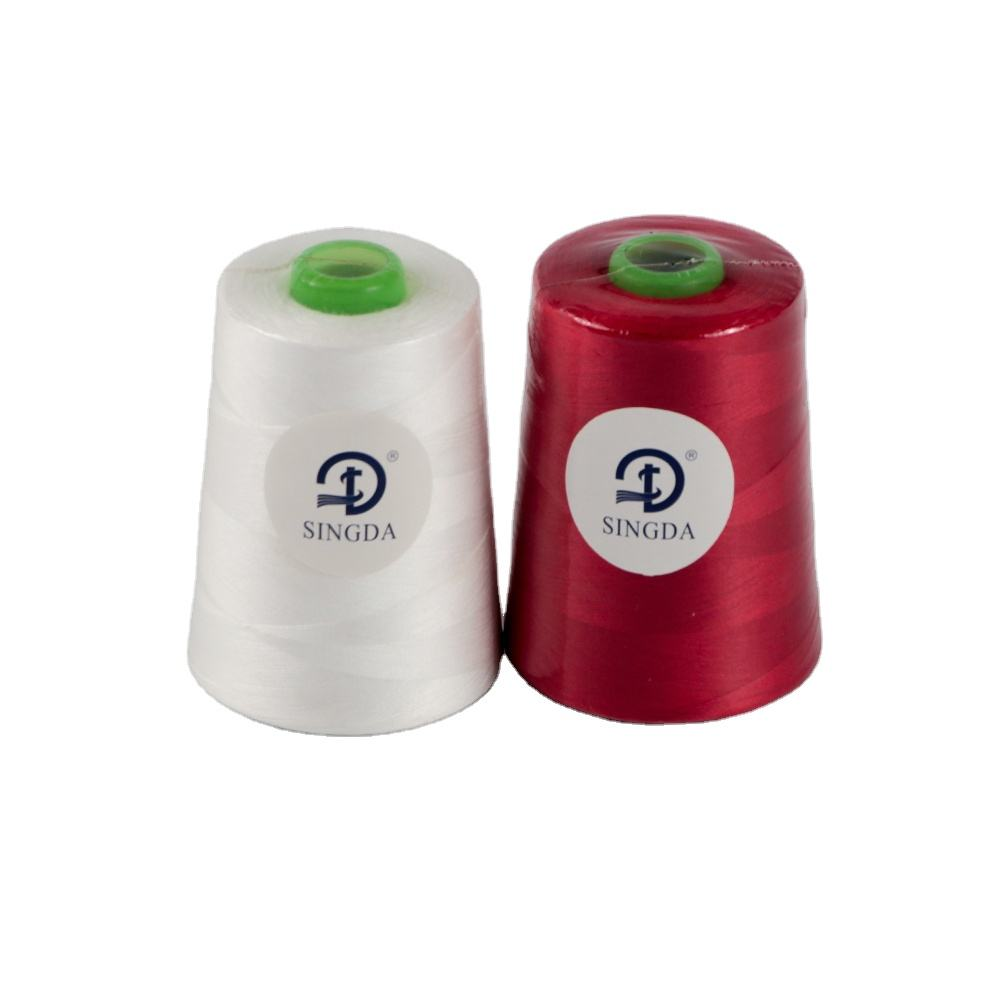 Hot Selling 100% Polyester Sewing Thread 40/2 5000y Cotton Sewing Thread Hilo 2/40 For Sewing And Knitting