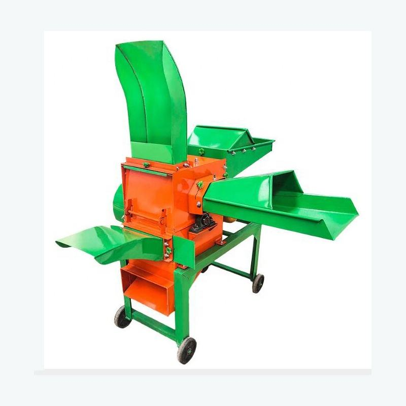 Cheap Price High Capacity Animals Feed Grass Chopper Crusher Machine Straw Corn Stalk Chaff Cutting Shredding Machine