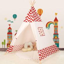 Decorated five-cornered durable and creative game house with Tent for teepee kids