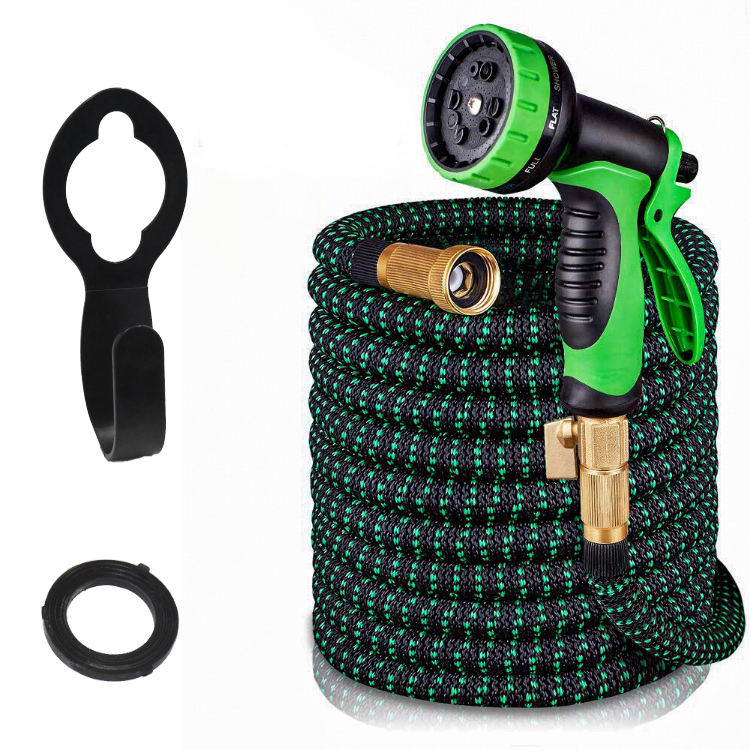 Hot selling 50FT Expandable Garden Water Hose with 10 Pattern Spray Water Gun hose set promotion water hose