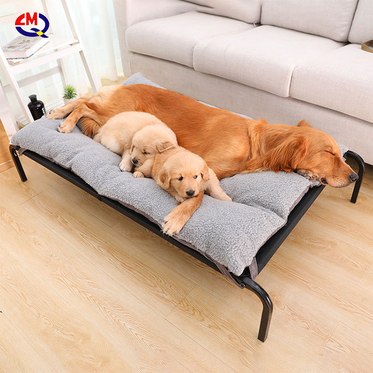 custom label raised metal steel structure durable elevated small dog bed for pet