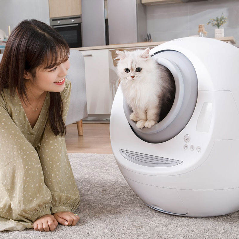 Meet enclosed luxury self-cleaning automatic sealed auto cat litter box for cat toilet
