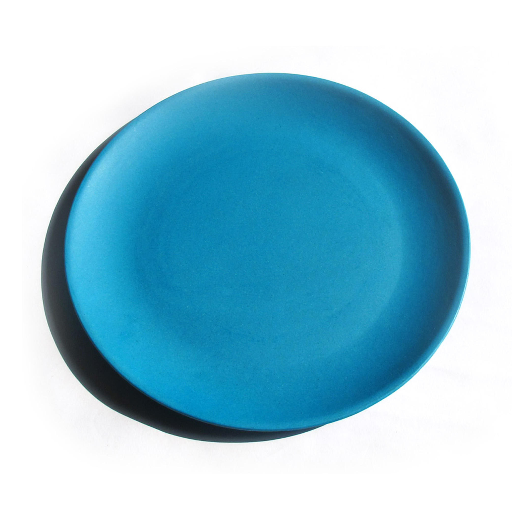 Eco biodegradable bamboo fiber round side spiral plate plates