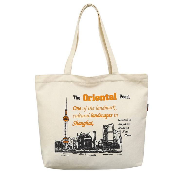 Custom Printed Recycle Plain Organic Cotton Canvas Tote Bag