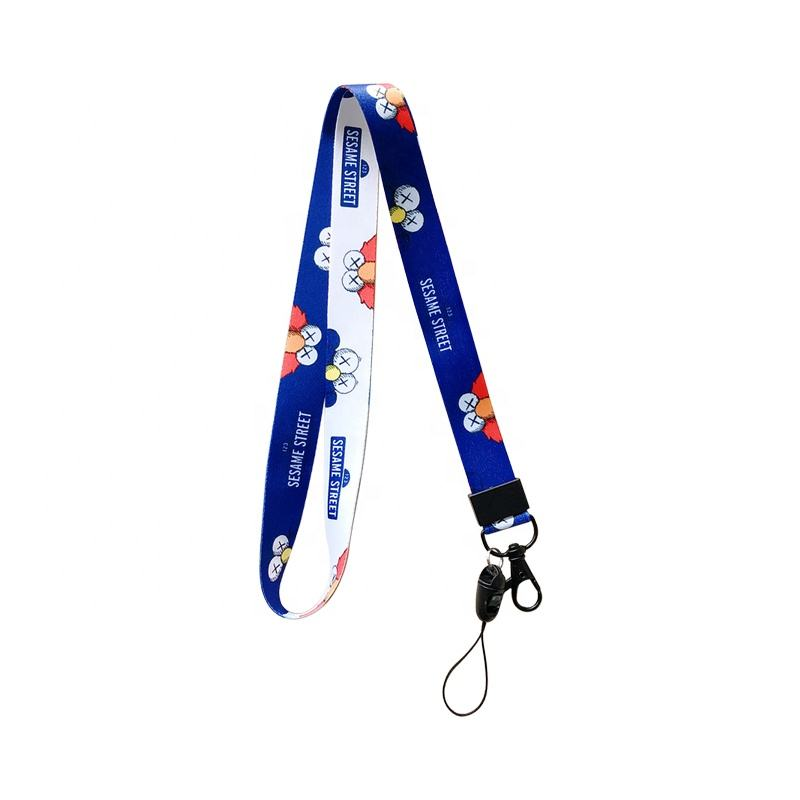 Personalized custom nylon polyester keychain sublimation printing custom logo promotion custom lanyard