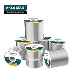 AKKOSTAR 60-40 Tin Lead Rosin Core Solder Wire for Electrical Soldering (100g/600g, 1.0mm)