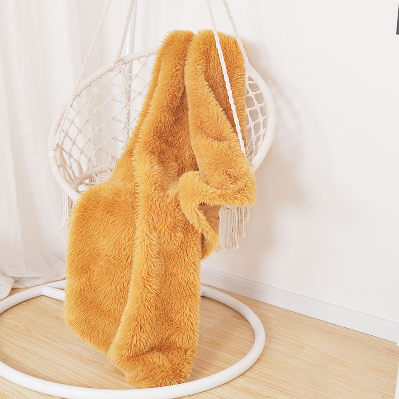 Custom Size Warm Plush Blankets Faux Fur Throw Blanket For Home