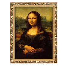 European Style Hotel Restaurant Wall Art Painting Famous Mona Lisa Smile Oil Painting Modern Fabric Designs Painting Supplies