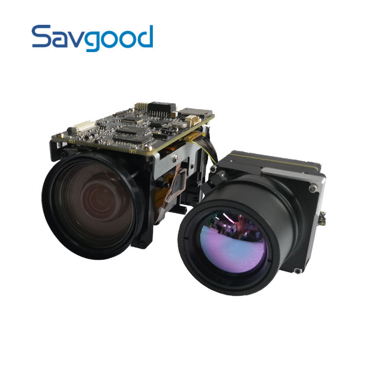 2MP Savgood 640*480 Thermal imaging camera module 30x Optical Visible zoom cctv camera de surveillance systems EO/IR IP camera