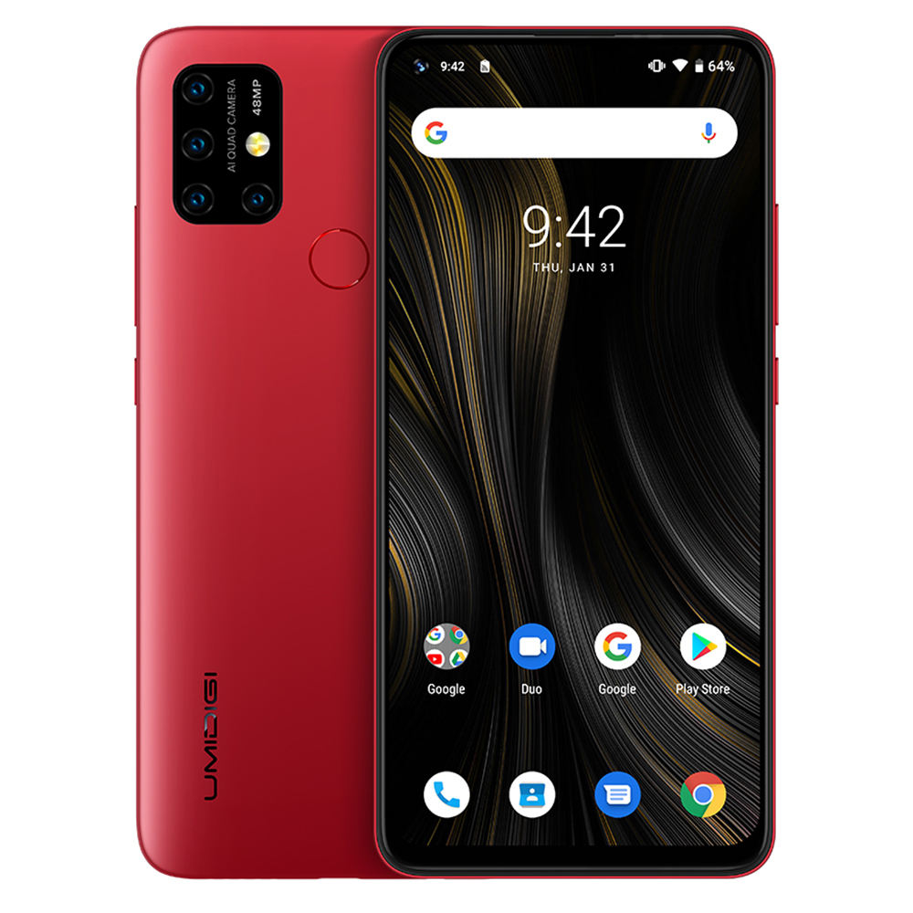 Umidigi Power 3 Mobiele Telefoon 4G Android 10 48MP Quad Ai Camera Mobiele Telefoon 6150 Mah 6.53