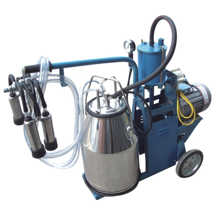 Cheap price High-efficiency hand operated portable mobile mini milking machine for camel/buffalo/goat/cow