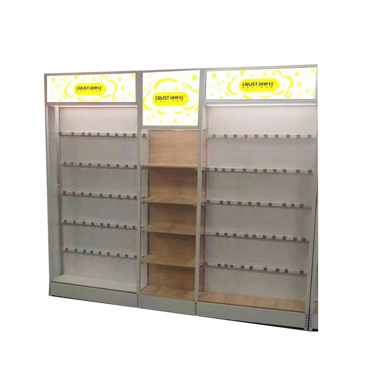 Supermarket Mall Shelves Equipment Steel And Wood Malaysia Shelf Protection Supermarket+Shelves