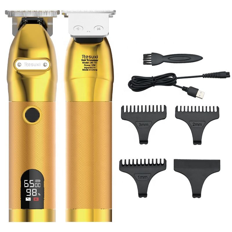 Buy Online New Design Professional Barber Machines Rechargeable Cordless Men Pro Gold Fx Hair Clippers