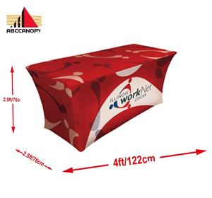 4FT Custom Printed Table Cloth for Trade Show Tent