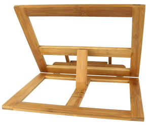 Bamboo Wood Folding Book Stand Holder For Cooking Kitchen