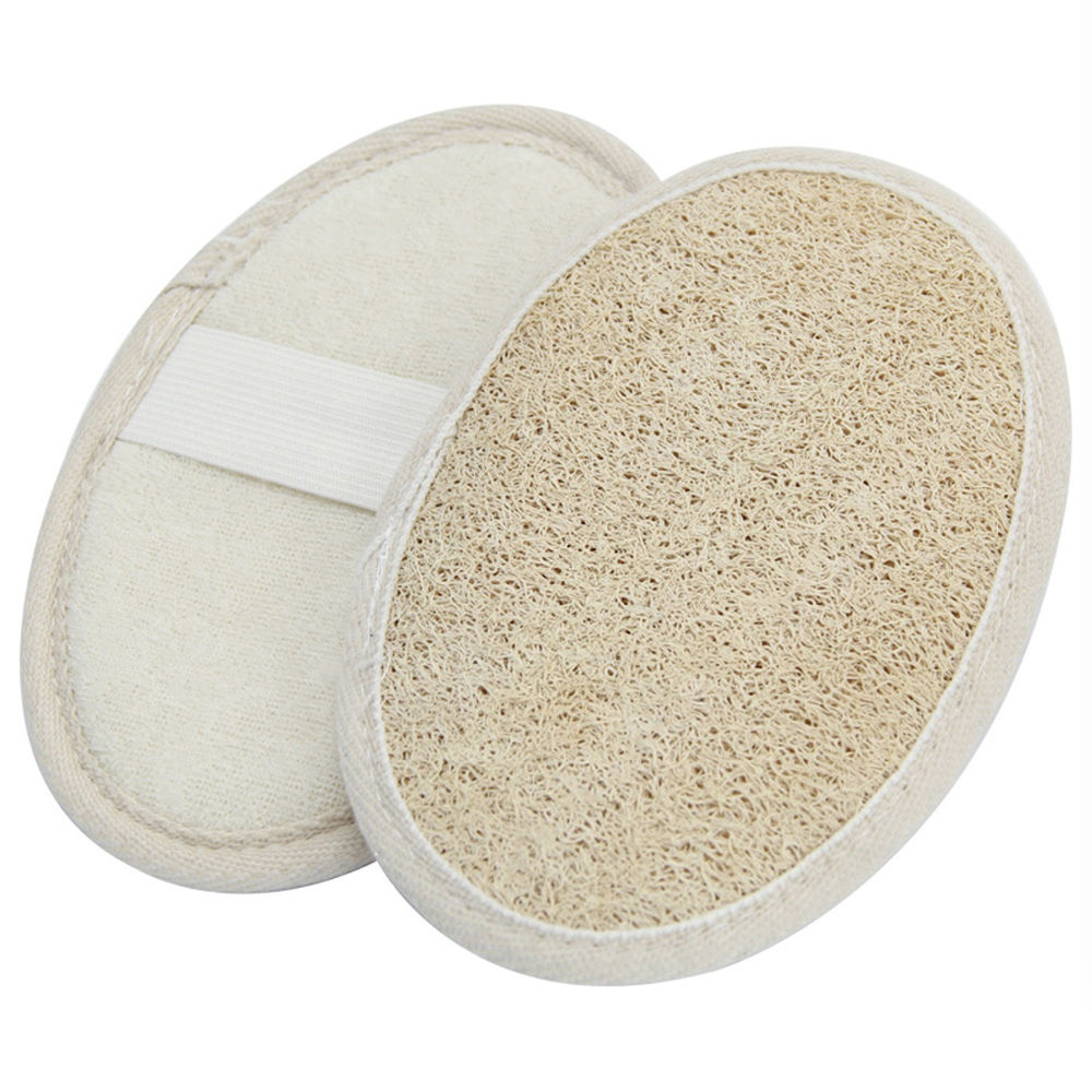 100% organic Eco Friendly Natural Oval shape bath loofahs Luffa sponge shower pouf body scrubber