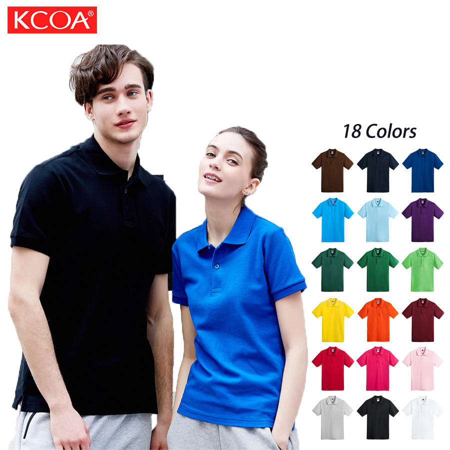 US Size 165g Blank Casual Quick Dry Polyester Cotton Men Polo T Shirt