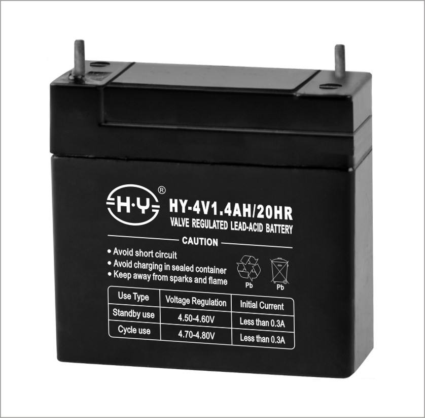 rechargeable sealed 4v lead acid battery for small home 4V1.4AH
