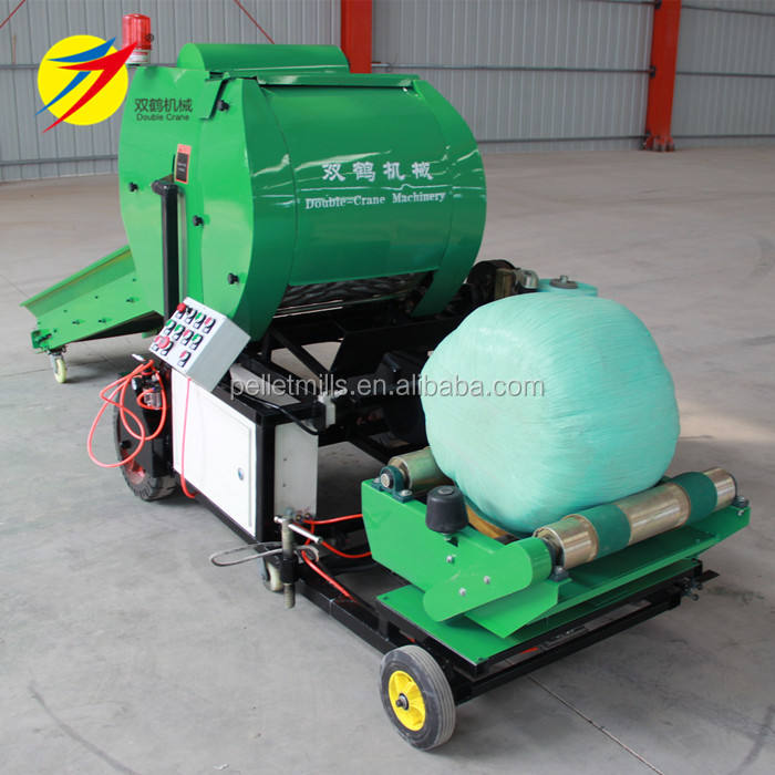 Full automatic silage baler machine with packing net