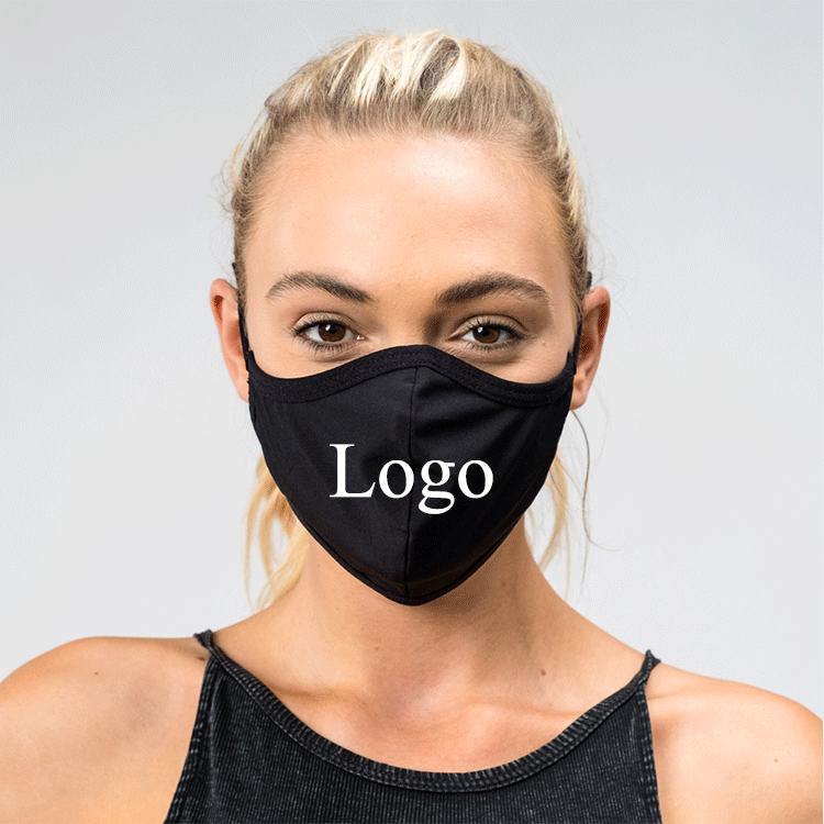 Breathable Skin Care Washable Custom Fashion Reusable Cotton Sublimation Face Mask with Filter Pocket