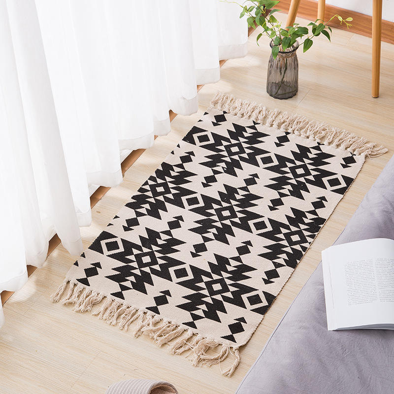China Carpet Factory Home Decor Modern Doormat Cotton Custom Printed Small Floor Carpet Arabic Rugs For Home