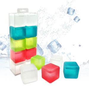 Real factory direct food grade ice grains simulated cooling small ice particles crystal dice plastic ice cubes