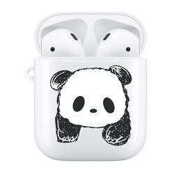 Panda Hard Shell Accessories Compatible with Apple AirPods 1&2 Oem Custom Logo